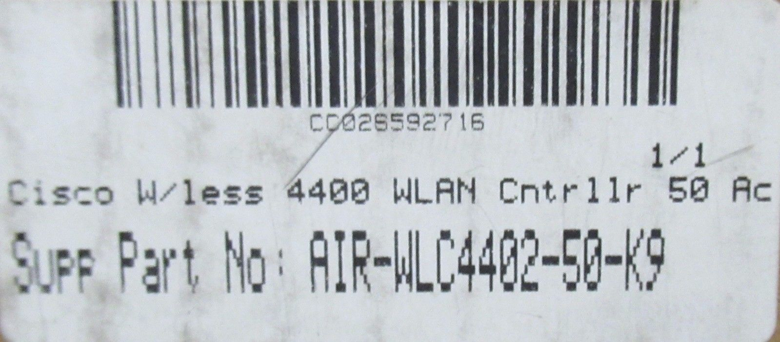 NEW Sealed Cisco AIR-WLC4402-50-K9 4400 Series Wireless Controller